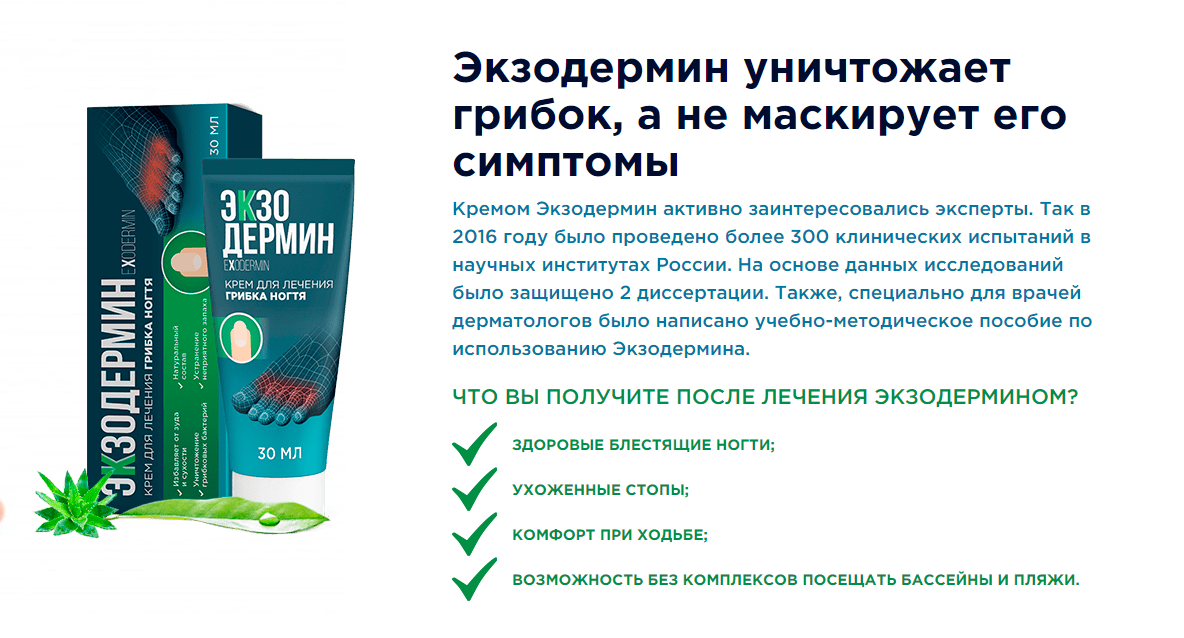 Экзодермин – механизм действия