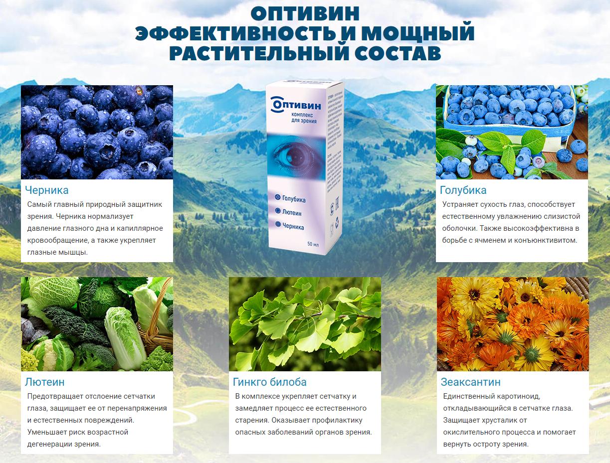 Оптивин – состав