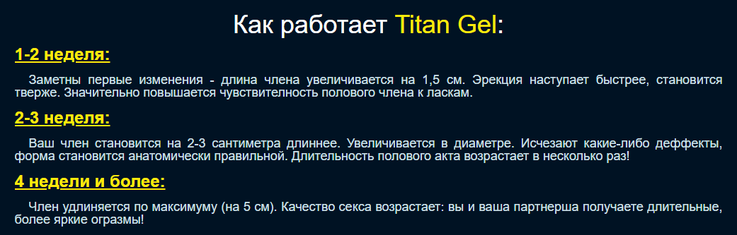 Титан гель – механизм действия