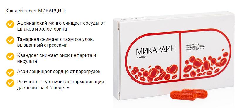 Микардин – описание