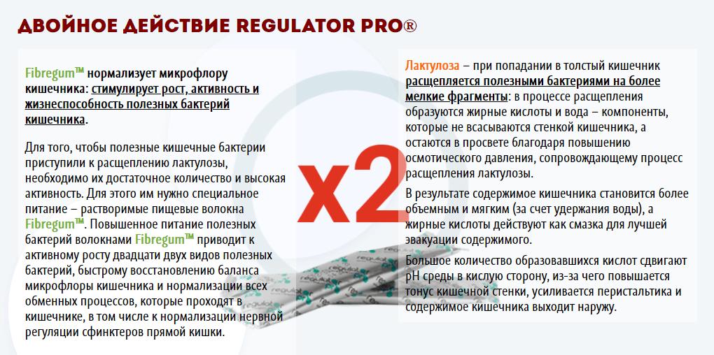 Регулятор Про – механизм действия
