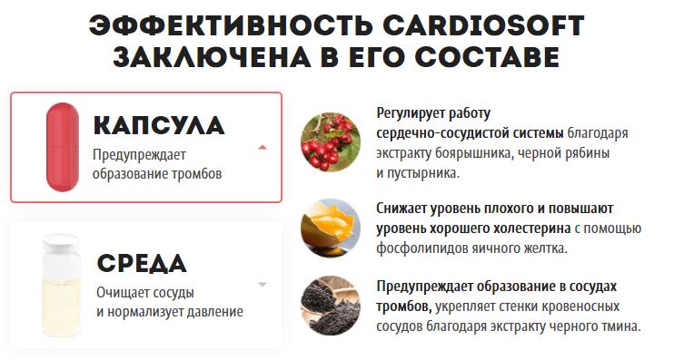 Состав Кардиософт